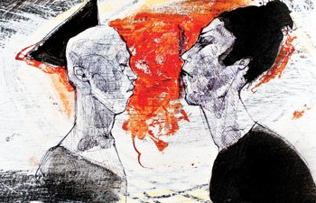 """Dialogue"" (mixed media, 2015)"